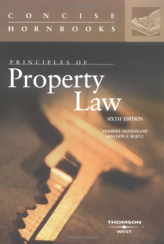 9780314150455: Principles of Property Law (Concise Hornbooks) (Concise Hornbook Series)