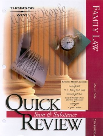 9780314150738: Sum & Substance Quick Review on Family Law