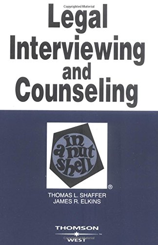 9780314151735: Legal Interviewing and Counseling in a Nutshell (Nutshells)