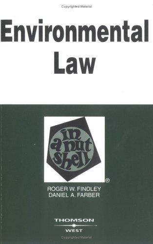 9780314151766: Environmental Law in a Nutshell
