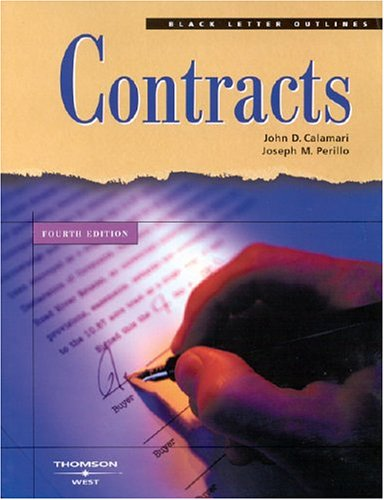 9780314151988: Contracts (Black Letter Outlines)