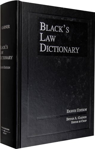 9780314151995: Black's Law Dictionary, 8th Edition (BLACK'S LAW DICTIONARY (STANDARD EDITION))