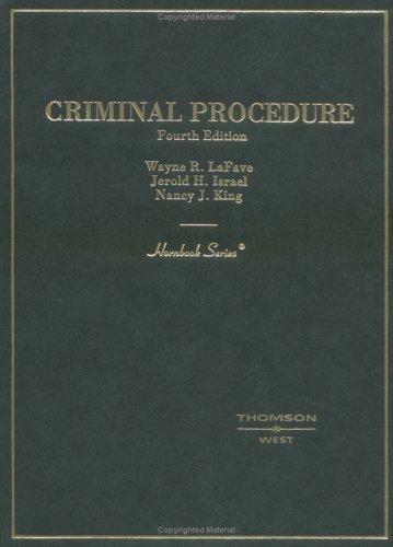 9780314152114: Criminal Procedure (HORNBOOK SERIES STUDENT EDITION)