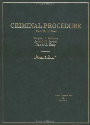 9780314152114: Criminal Procedure (HORNBOOK SERIES STUDENT EDITION)