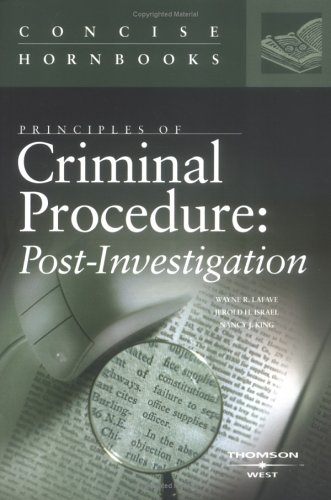 9780314152145: Principles of Criminal Procedure: Post-Investigation (Concise Hornbook Series)
