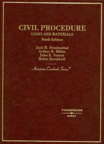 9780314152312: Cases and Materials on Civil Procedure (American Casebook Series)