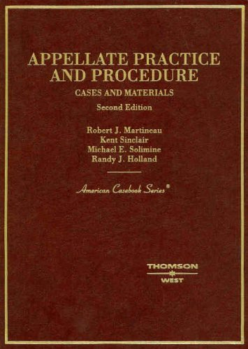 9780314152466: Cases and Materials on Appellate Practice and Procedure (American Casebook Series)