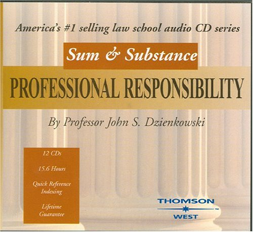 9780314152862: Sum and Substance Audio on Professional Responsibility