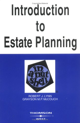 9780314153067: Introduction to Estate Planning in a Nutshell, Fifth Edition (Nutshell Series)