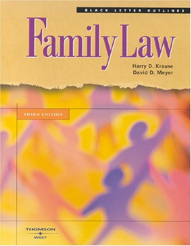 9780314153524: Black Letter On Family Law (Black Letter Outlines)