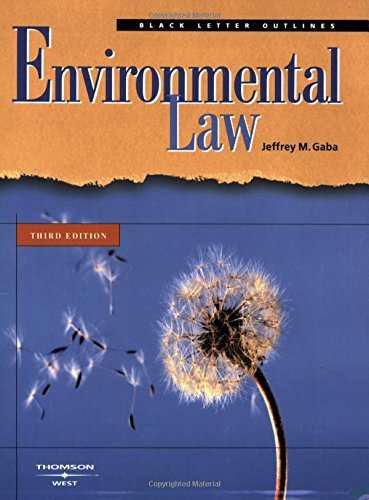 9780314154385: Black Letter Outline on Environmental Law
