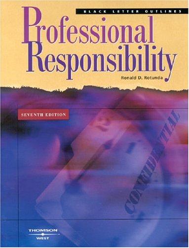 9780314154453: Black Letter Outline on Professional Responsibility (Black Letter Outlines)