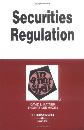 9780314155184: Securities Regulation in a Nutshell (Nutshell Series)