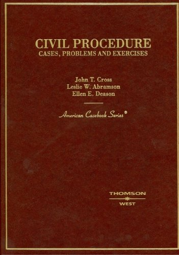 9780314155474: Civil Procedure: Cases, Problems and Exercises (American Casebook Series)