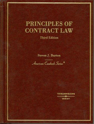 9780314155757: Principles of Contract Law: (American Casebook Series)