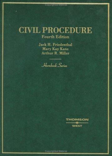 9780314156112: Civil Procedure (Hornbook Series)