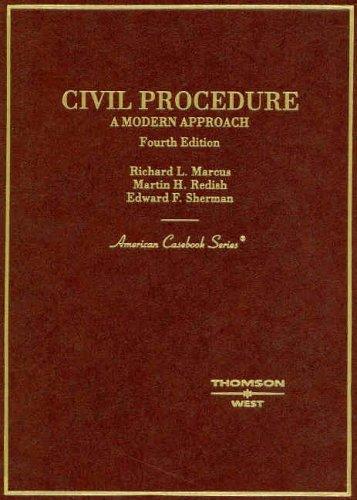 9780314156136: Civil Procedure: A Modern Approach (American Casebooks)