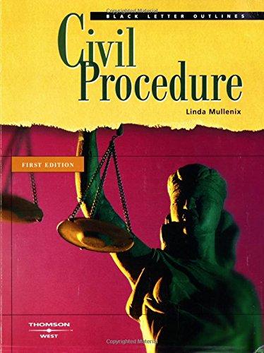 9780314156280: Black Letter Outline on Civil Procedure