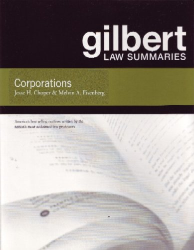 9780314156396: Corporations (Gilbert Law Summaries)