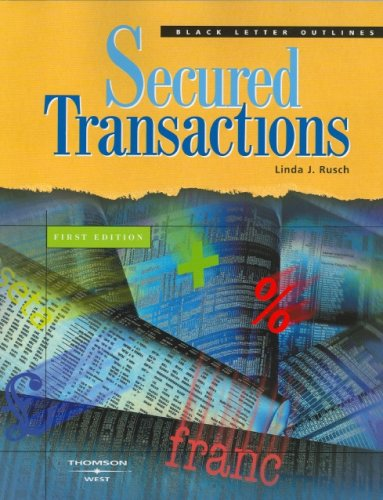 9780314158604: Secured Transactions (Blackletter Outlines)