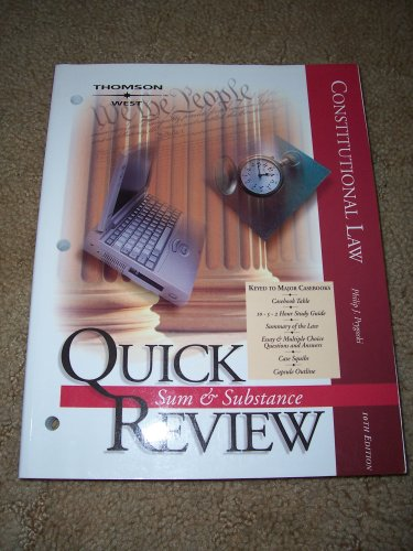 9780314158772: Sum & Substance Quick Review Constitutional Law
