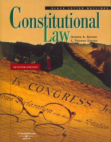 9780314158857: Constitutional Law (Black Letter Outlines)