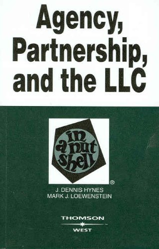 9780314158949: Agency, Partnership and the LLC in a Nutshell (Nutshell Series)