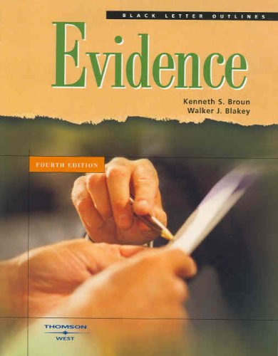 9780314158963: Black Letter Outline on Evidence (Black Letter Outlines)