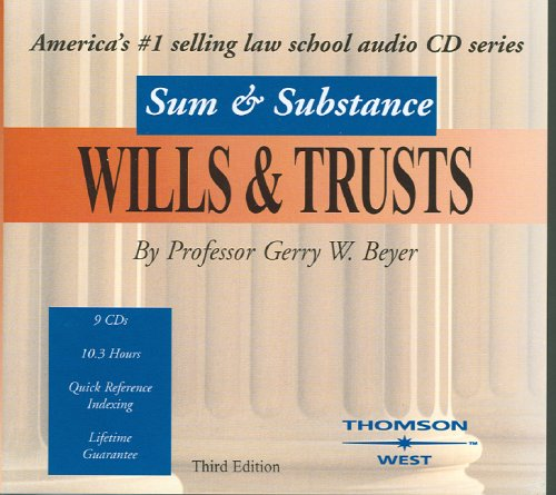9780314159243: Sum & Substance Audio on Wills & Trusts 2004