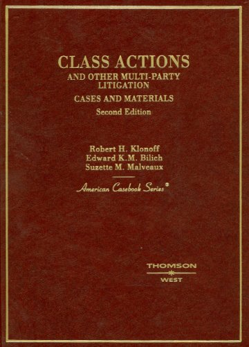 9780314159489: Class Actions and Other Multi-party Litigation: Cases And Materials (American Casebook)