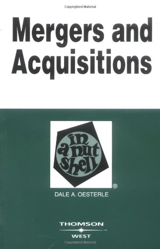 9780314159564: Mergers and Acquisitions in a Nutshell (Nutshells)