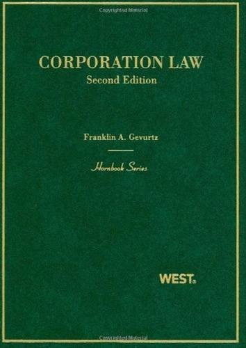 9780314159793: Corporation Law (Hornbooks)