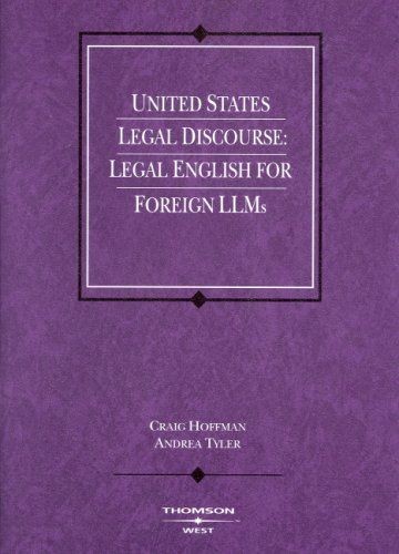 9780314159946: United States Legal Discourse: Legal English for Foreign LLMs (Coursebook)