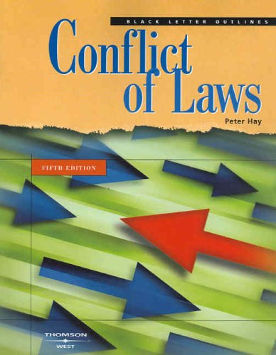 9780314160126: Black Letter on Conflict of Laws, Fifth Edition (Black Letter Outline)