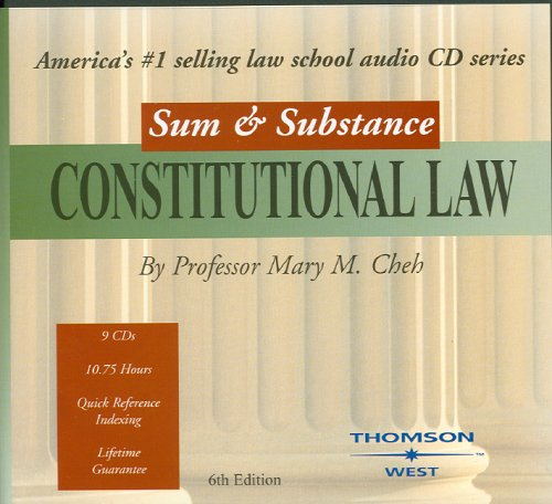 9780314160188: Sum & Substance Audio on Constitutional Law