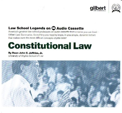 9780314160812: Law School Legends Constitutional Law (Audio Cassette) (Law School Legends Audio Series)