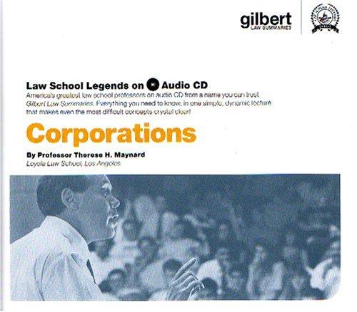 9780314160881: Corporations (Law School Legends Audio Series)