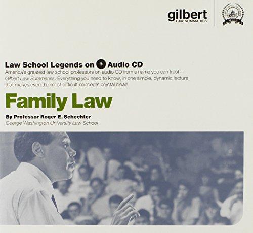 9780314160966: Family Law (Law School Legends Audio Series)