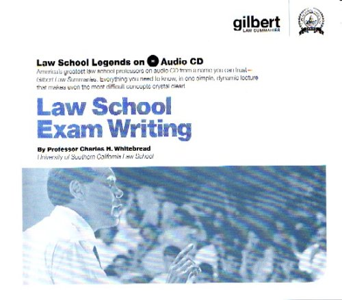 9780314161048: Law School Exam Writing (Law School Legends Audio Series)