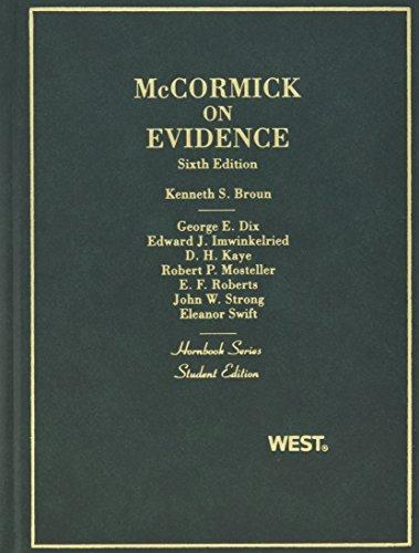 9780314161277: Mccormick on Evidence (Hornbooks)