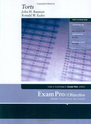 9780314161475: Exam Pro on Torts (Exam Pro Series)
