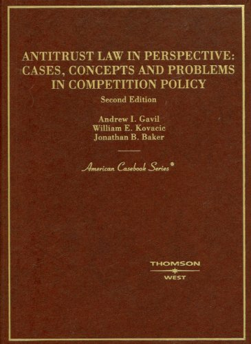 9780314162618: Antitrust Law in Perspective: Cases, Concepts and Problems in Competition Policy (American Casebook Series)