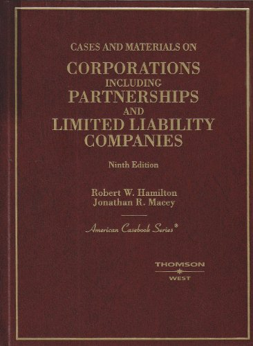9780314162748: Cases on Corporations Including Partnerships and Limited Liability Companies (American Casebook Series)