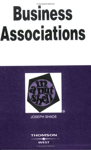 9780314162809: Business Associations, Second Edition (Nutshell Series)