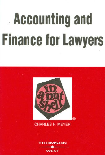 9780314162953: Accounting And Finance for Lawyers in a Nutshell (Nutshell Series)