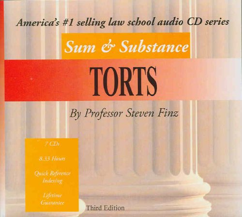 9780314163318: Sum & Substance Audio on Torts