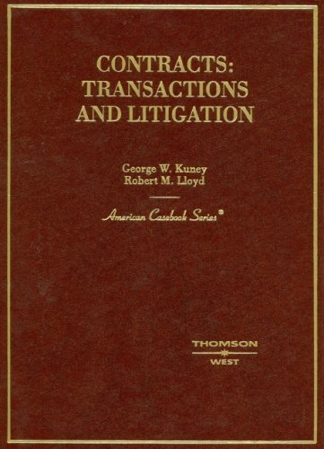 9780314163370: Contracts: Transactions And Litigation