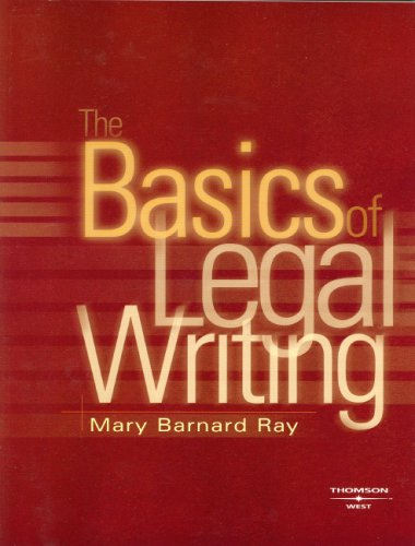 9780314163394: Basics of Legal Writing