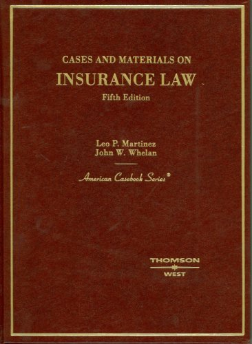 9780314163424: Cases and Materials on Insurance Law (American Casebook Series)