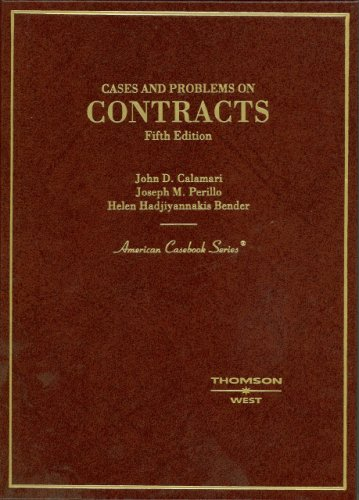 9780314166616: Cases and Problems on Contracts, 5th Edition (American Casebook Series)